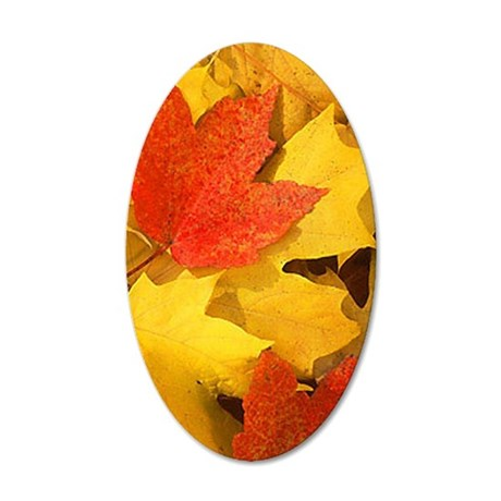 Autumn_leaves_iPhone 35x21 Oval Wall Decal