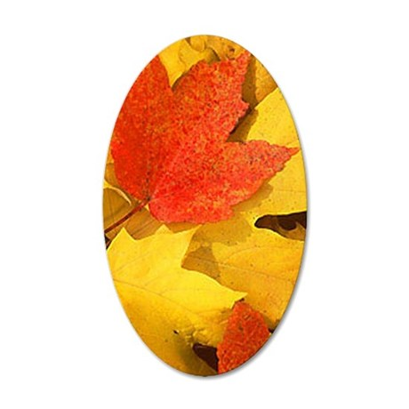 Autumn_leaves_iPhone4 35x21 Oval Wall Decal