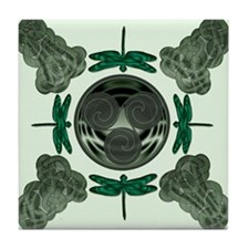 Celtic Dragonflies Tile Coaster