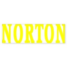 NORTON BEST YELLOW Bumper Sticker