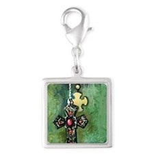 KeepTheFaith Silver Square Charm