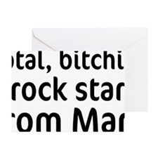 rock star from mars-cap Greeting Card