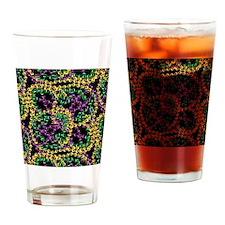 throwMEbeadsBPatSmSq Drinking Glass