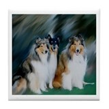 Collie Trio Tile Coaster