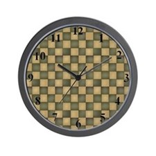 clockgreenchecks Wall Clock