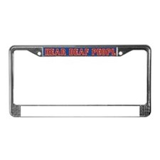 deaf-people.bs2 License Plate Frame