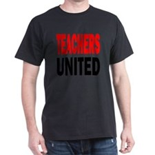 Teachers united red and black T-Shirt