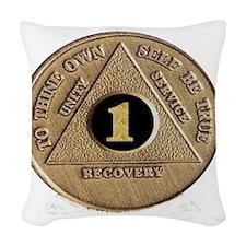 1coin Woven Throw Pillow