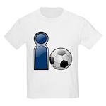 I Play Soccer - Blue Kids T-Shirt