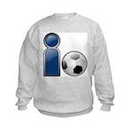 I Play Soccer - Blue Kids Sweatshirt