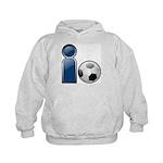 I Play Soccer - Blue Kids Hoodie