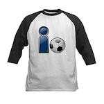 I Play Soccer - Blue Kids Baseball Jersey