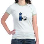 I Play Soccer - Blue Jr. Ringer T-Shirt