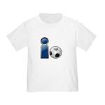 I Play Soccer - Blue Toddler T-Shirt