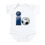 I Play Soccer - Blue Infant Bodysuit