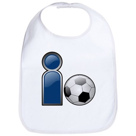 I Play Soccer - Blue Bib