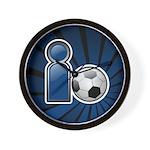 I Play Soccer - Blue Wall Clock