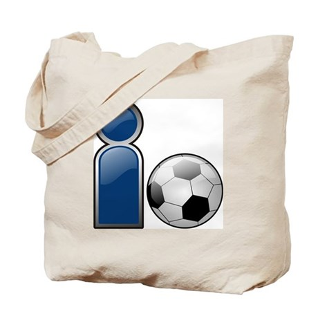 I Play Soccer - Blue Tote Bag