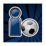 I Play Soccer - Blue Tile Coaster