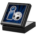 I Play Soccer - Blue Keepsake Box