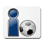 I Play Soccer - Blue Mousepad