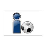 I Play Soccer - Blue Mini Poster Print