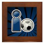 I Play Soccer - Blue Framed Tile
