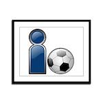 I Play Soccer - Blue Framed Panel Print