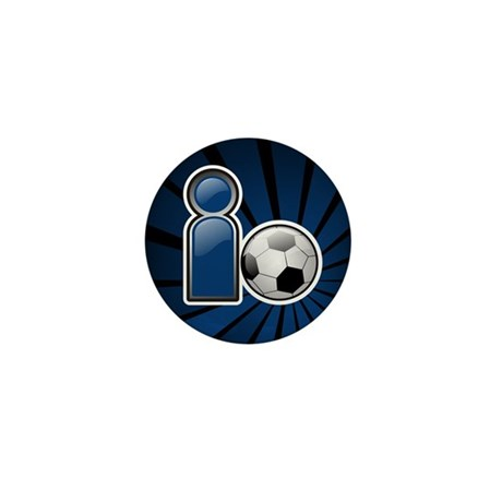 I Play Soccer - Blue Mini Button (100 pack)
