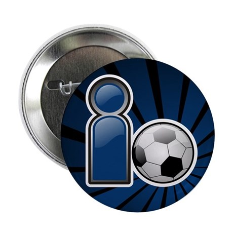 "I Play Soccer - Blue 2.25"" Button (10 pack)"