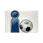 I Play Soccer - Blue Rectangle Magnet (10 pack)