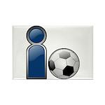I Play Soccer - Blue Rectangle Magnet