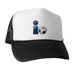 I Play Soccer - Blue Trucker Hat