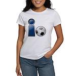 I Play Soccer - Blue Women's T-Shirt