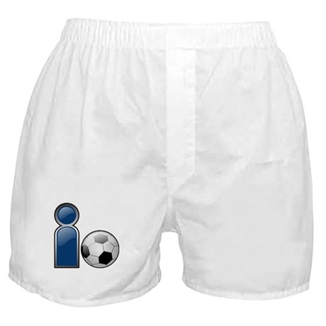 I Play Soccer - Blue Boxer Shorts