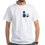 I Play Soccer - Blue White T-Shirt