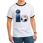 I Play Soccer - Blue Ringer T