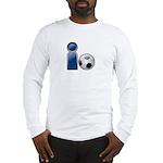I Play Soccer - Blue Long Sleeve T-Shirt