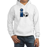I Play Soccer - Blue Hooded Sweatshirt