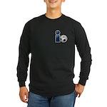 I Play Soccer - Blue Long Sleeve Dark T-Shirt