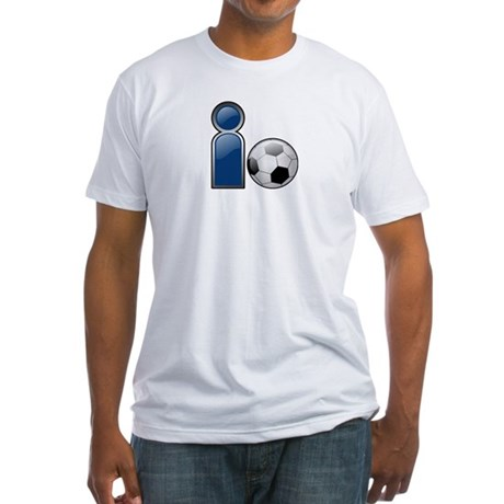 I Play Soccer - Blue Fitted T-Shirt