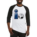 I Play Soccer - Blue Baseball Jersey