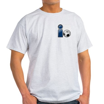 I Play Soccer - Blue Ash Grey T-Shirt