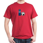 I Play Soccer - Blue Dark T-Shirt