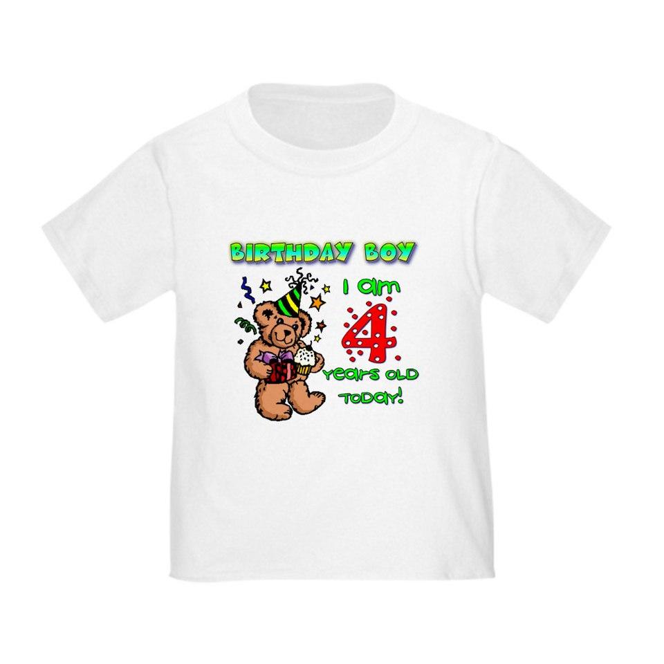 Boy 4Th Birthday T Shirts Tees