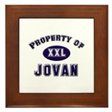 Property of jovan Framed Tile