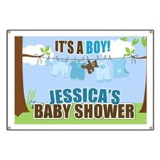 Its A Boy Custom Baby shower Sign Banner