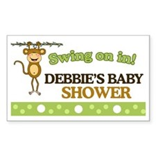 Monkey Baby Shower Sign Decal
