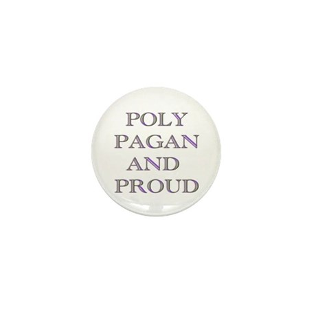 Poly pagan and proud words Mini Button (10 pack)