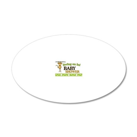Monkey Baby Shower Yard sign 20x12 Oval Wall Decal